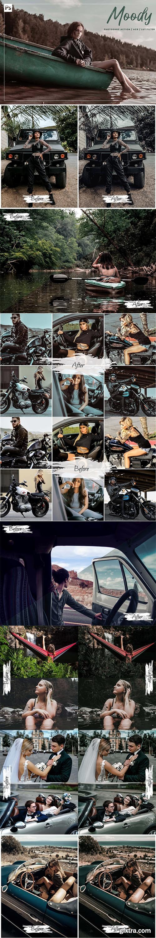 CreativeMarket - 10 Moody Ps Action, ACR, LUT 5942281