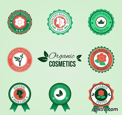 Organic cosmetic badges
