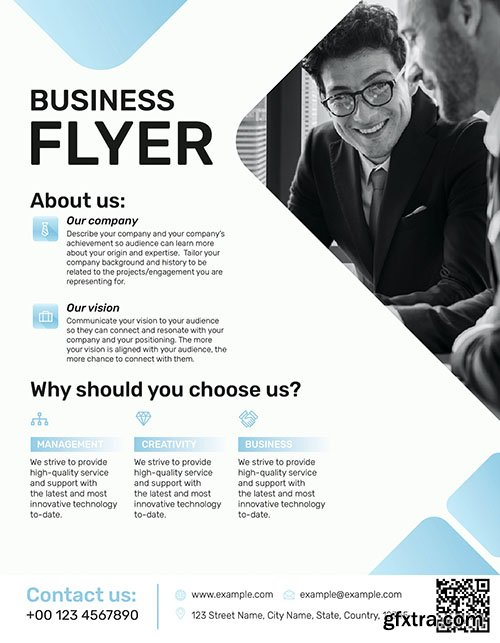 Editable business flyer template vector company introduction