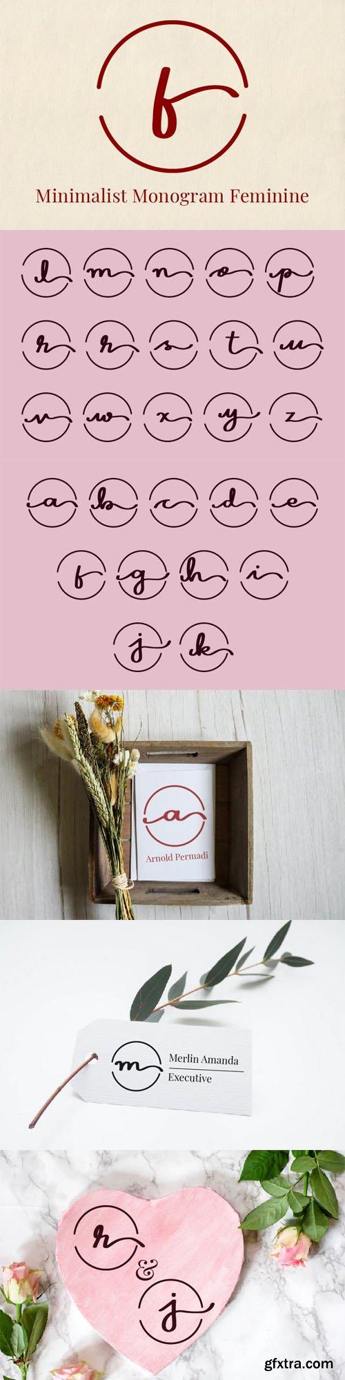 Minimalist Monogram Feminine Font