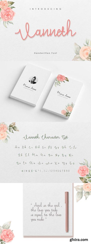 Vanneth - Elegant Handwritten Font