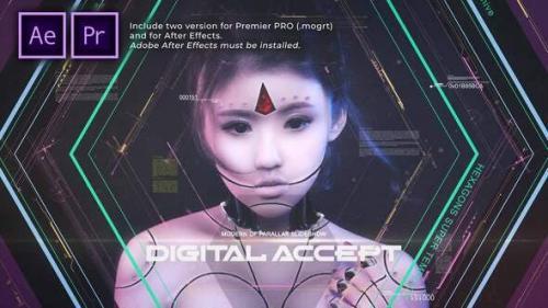 Videohive - Hexagons Accept Digital Opener