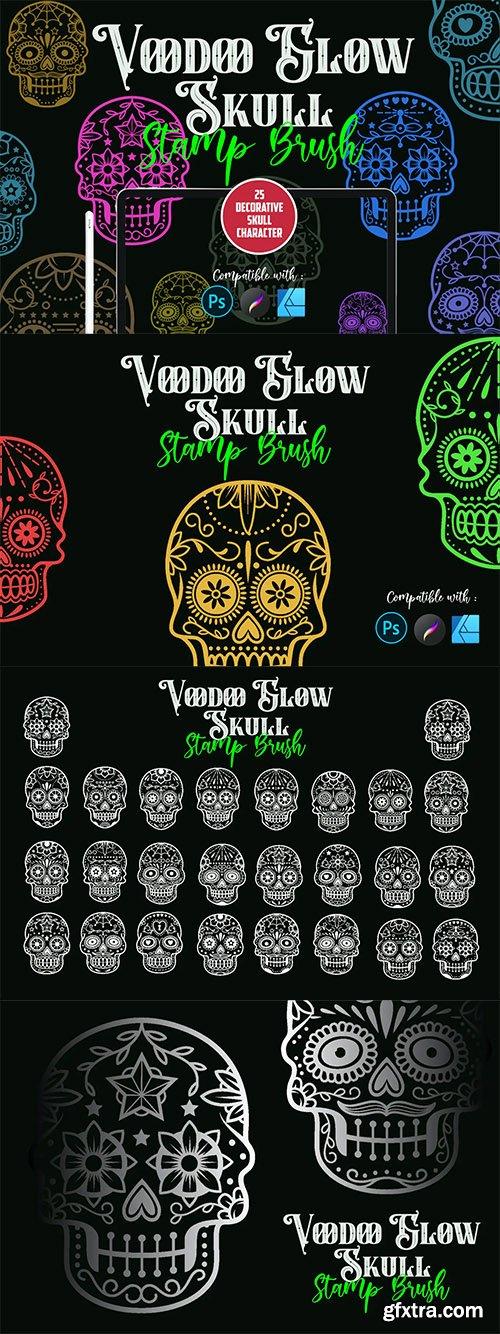 Voodoo Glow Skull | Stamp brush