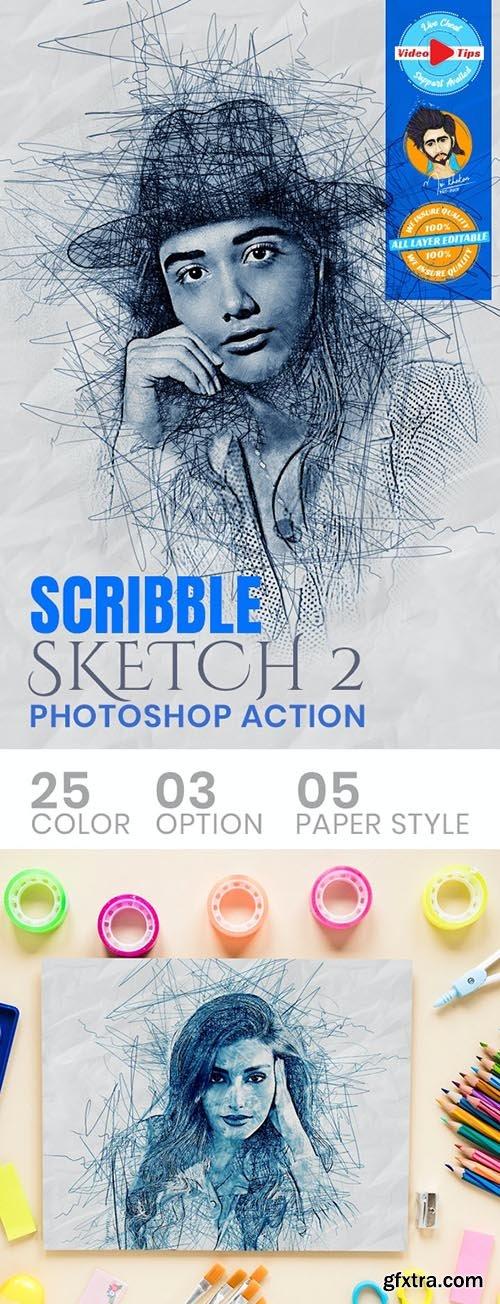 GraphicRiver - Scribble Sketch Photoshop Action 31050617