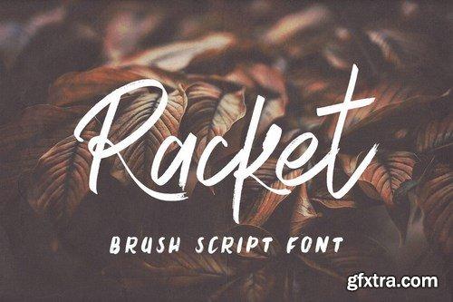 Racket Brush Script