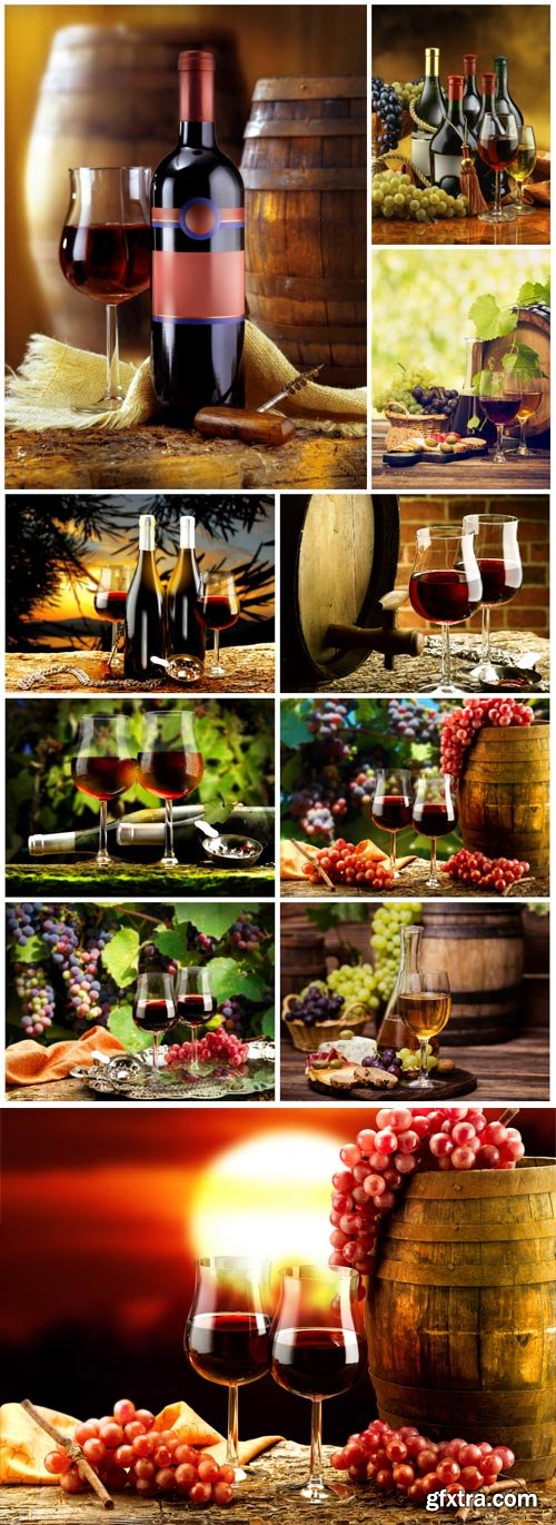 Wine set stock photo