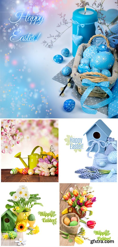 Easter compositions stock photo