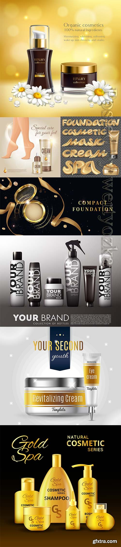 Advertising cosmetic vector template
