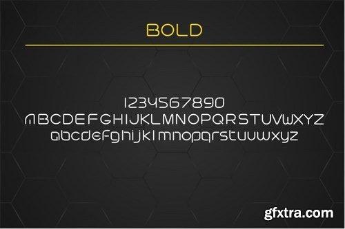 Futuristic linear font