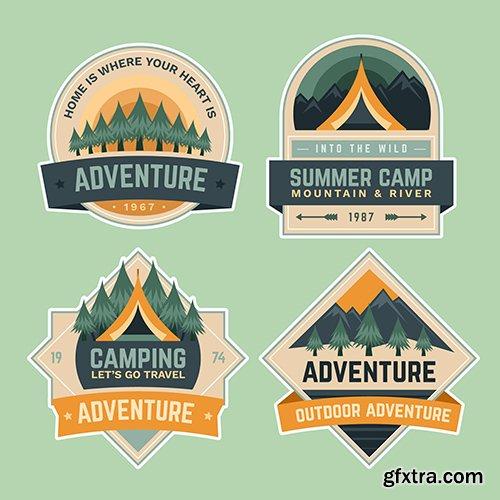 Summer camping school adventure badges