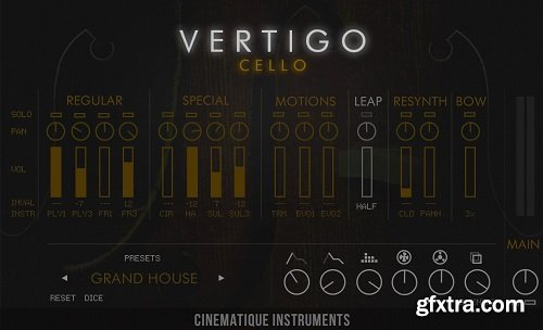 Cinematique Instruments Vertigo Cello KONTAKT