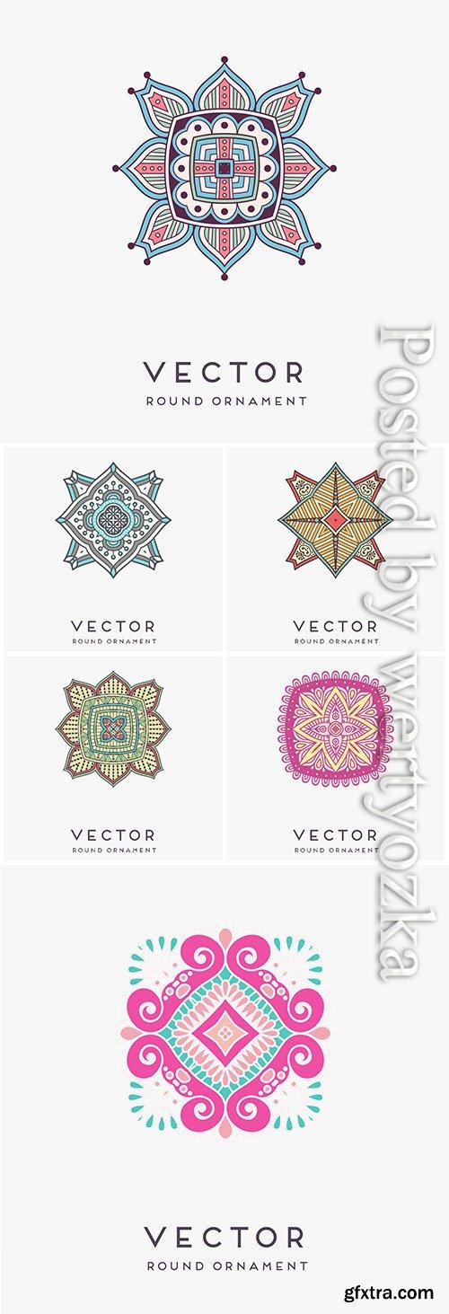 Mandala in vector, islamic motives