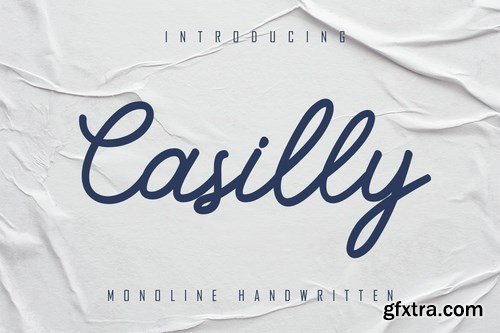 Casilly - Monoline Handwritten