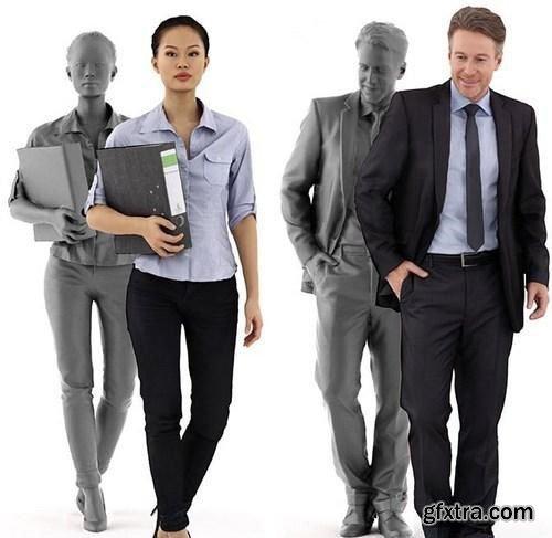 3D Posed People Scanned 3D Model
