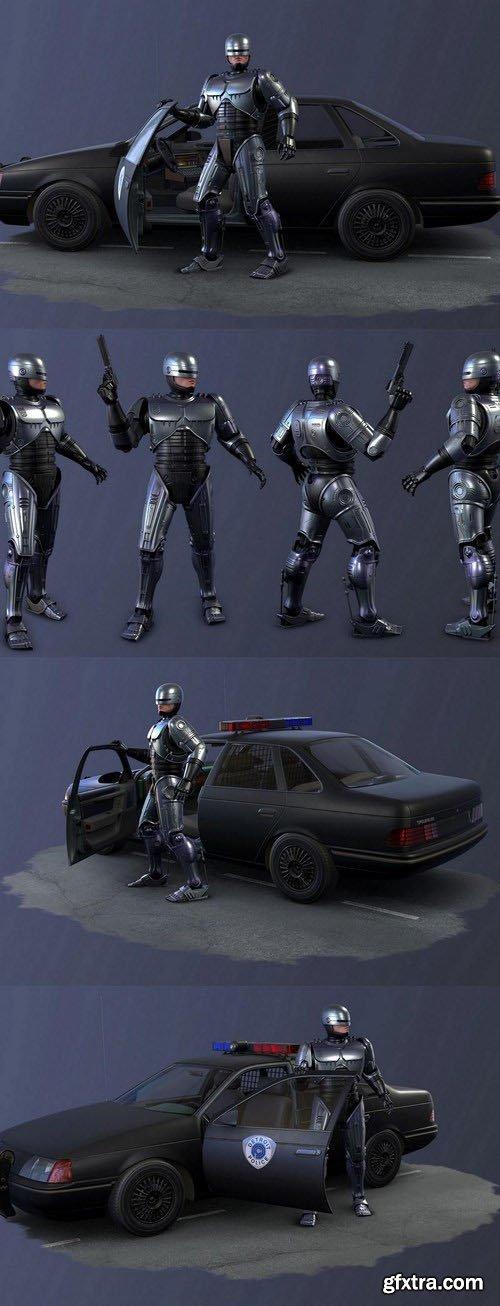 Robocop - 3D Model Scene and Pose Set