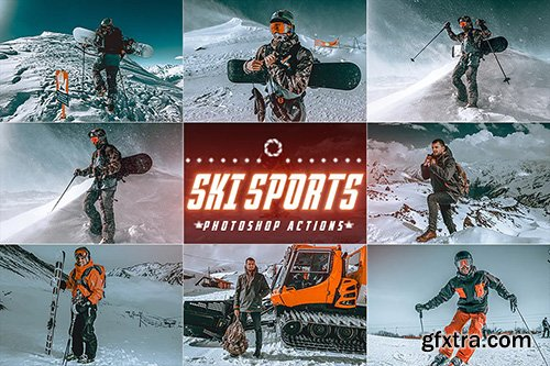 ski Sports Winter Photoshop Actions