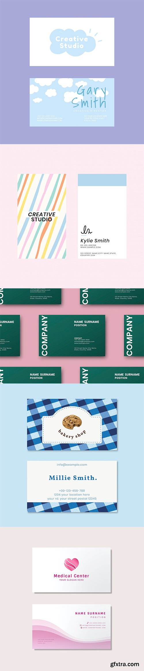 Set of business card template vol3