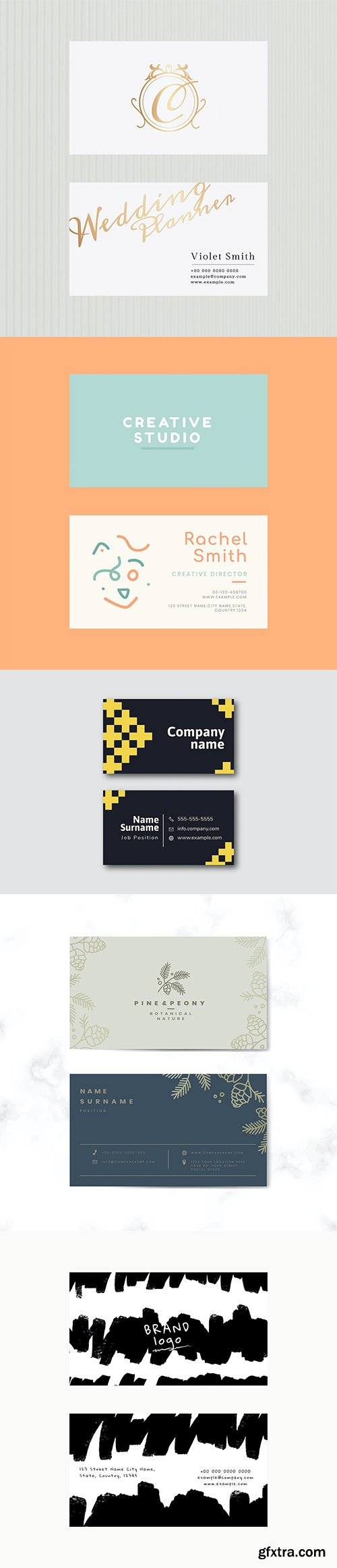 Set of business card template vol2