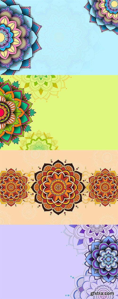 Background template with mandala pattern