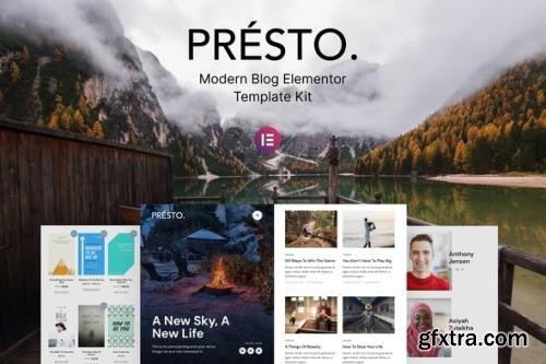 ThemeForest - Presto v1.0.1 - Modern Blog Elementor Template Kit (Update: 15 April 21) - 30250808