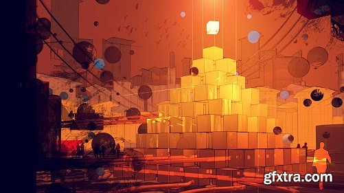 Crypto Art: Create a Dystopian City Using Traditional Painting Techniques and Cinema 4D