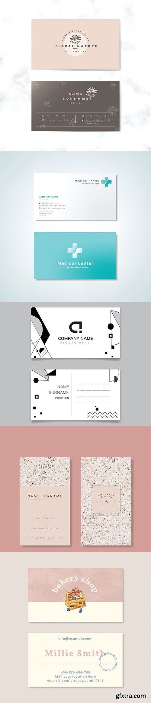 Set of business card template vol4