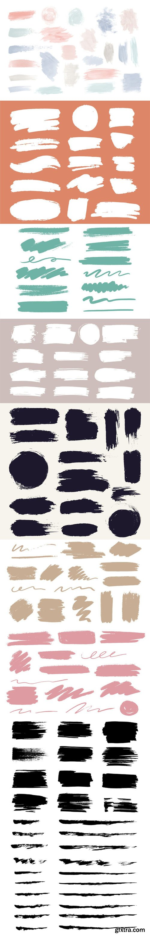 146 Colorful Ink Brush Stroke Vector Templates