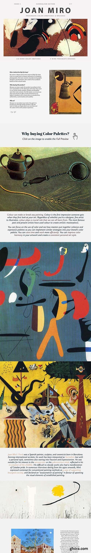 CreativeMarket - Joan Miro\'s Art Procreate Brushes 5965790