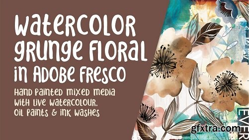 Adobe Fresco Floral Mixed Media Illustration