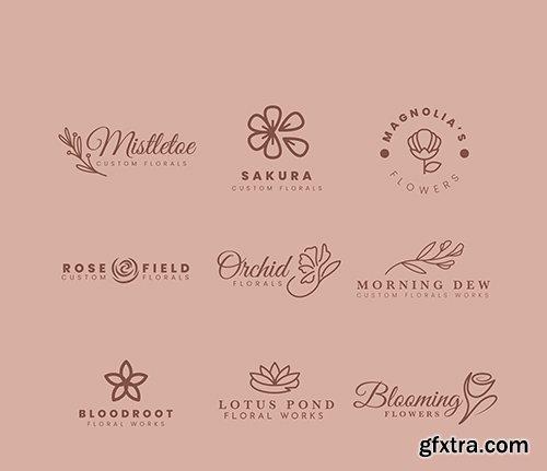 Logo collection for wedding florist