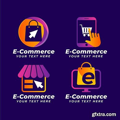 Gradient e-commerce logo collection