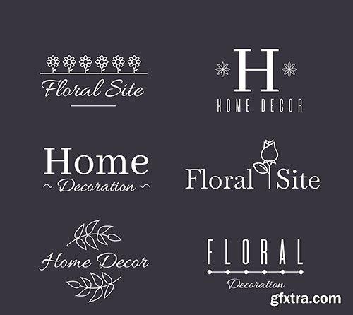 Wedding monogram logo templates collection