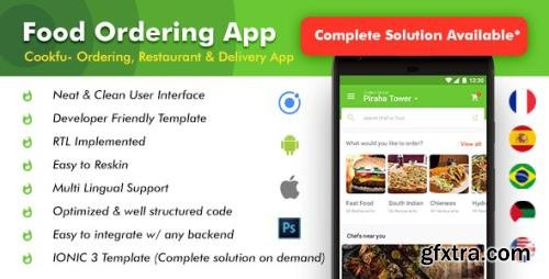 CodeCanyon - Food Delivery App|Food Ordering App|Android + iOS App Template|3 Apps| Multi Restro Cookfu (IONIC 4) v2.0 - 25697148