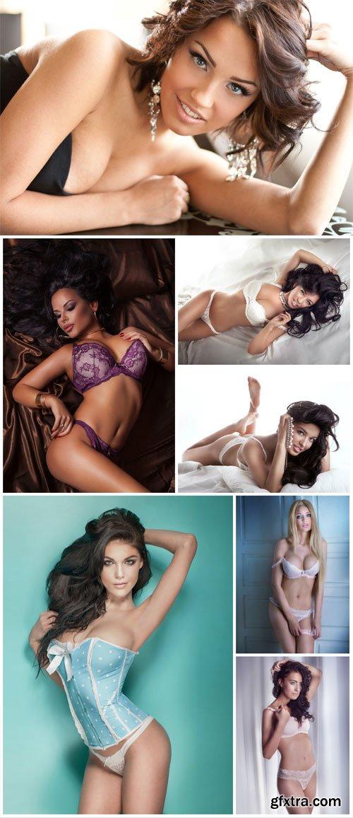 Women in lingerie, pretty girls