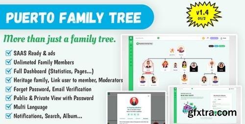 CodeCanyon - Puerto Family Tree Builder SAAS v1.4 - 25799178