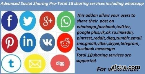 CodeCanyon - Advanced Social Sharing Pro For WoWonder v1.0 (Update: 15 April 21) - 15315760