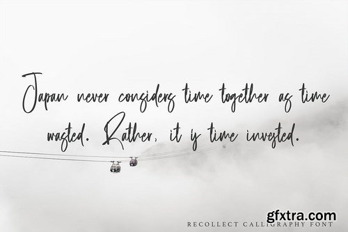 Recollect - Calligraphy Font