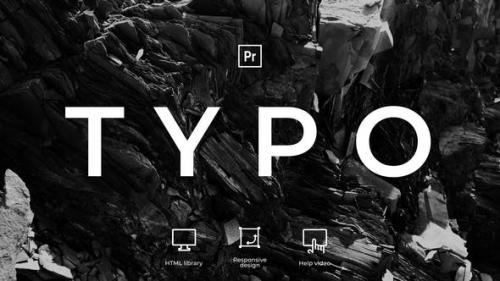 Videohive - Typography | MOGRT