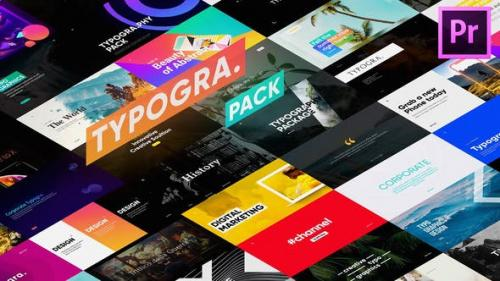 Videohive - Typography Pack for Premiere Pro