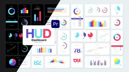 Videohive - HUD Dashboard Infographics Essential Graphics for Premiere Pro