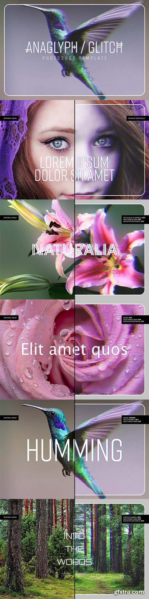 CreativeMarket - Anaglyph/Glitch Photoshop Template 5794468