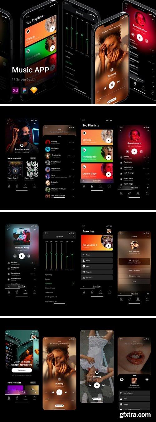 Amazing Music App UI Kit