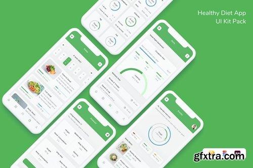 Healthy Diet App UI Kit Pack