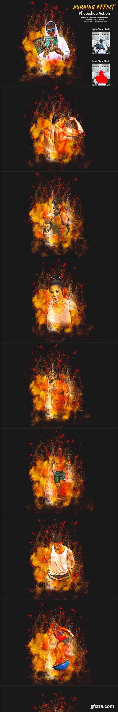 CreativeMarket - Burning Effect Photoshop Action 5999913