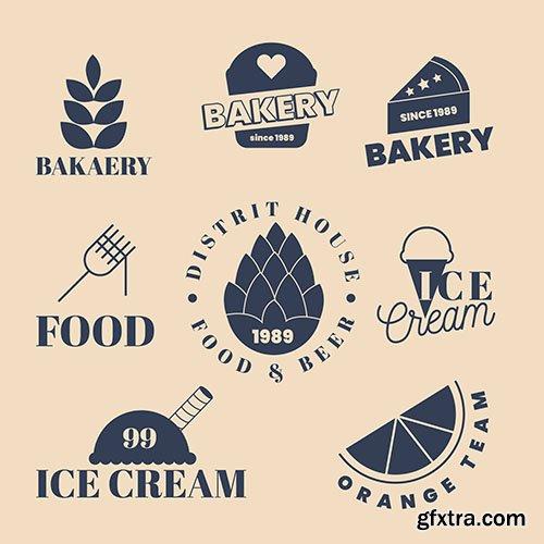 Bakery summer sweets logo