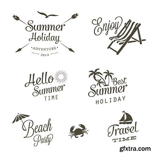 Summer logo vectors