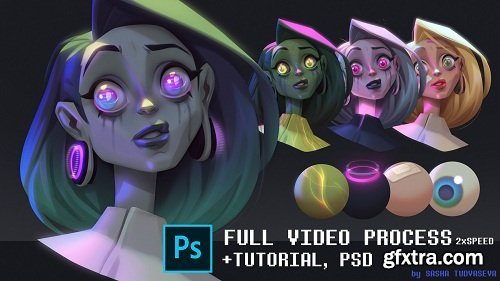 ArtStation - How to render character with photoshop tools by Sasha Tudvaseva