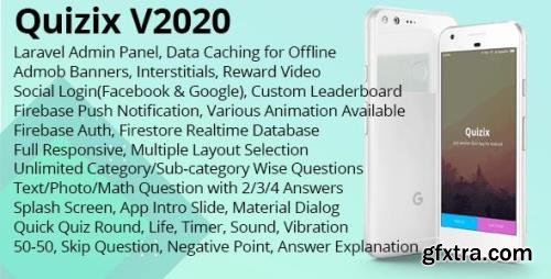 CodeCanyon - Quizix v4.5 - Android Quiz App with AdMob, FCM Push Notification, Offline Data Caching - (Update: 18 February 20) - 21213145