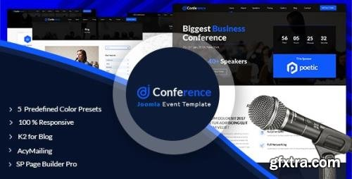 ThemeForest - JD Conference v1.5 - Advanced One Page Joomla 3.9 Event Template - 20370906