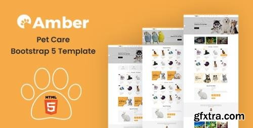 ThemeForest - Amber v1.0 - Pet Care Bootstrap 5 Template - 29994031